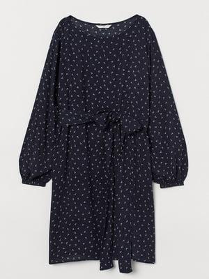 Платье темно-синее в принт | 5745456