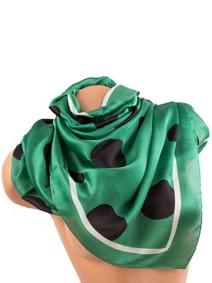 Шарф зеленый в горох   5746220