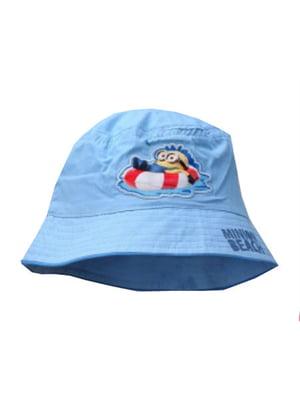 Панамка голубого цвета с рисунком | 5747121