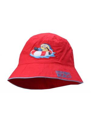 Панамка красная с рисунком | 5747122