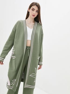 Кардиган зеленый в принт | 5722608