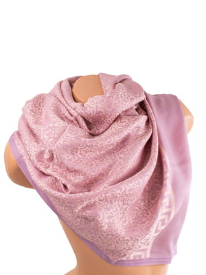Палантин рожевий в принт | 5746017