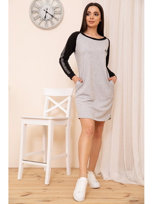 Сукня сіро-чорна   5749699