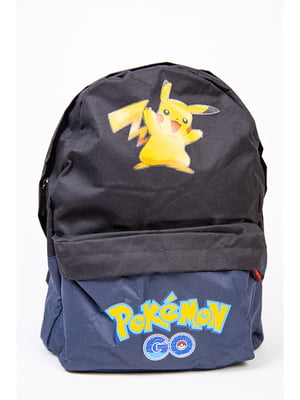 Рюкзак синьо-чорний з принтом | 5749786