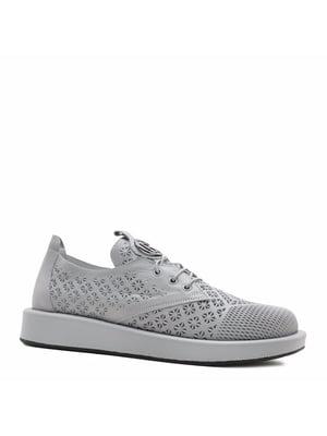 Туфлі сірі з візерунком   5736023