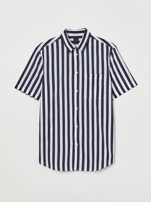 Рубашка черно-белая в полоску | 5747184