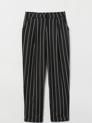 Штани чорні в смужку | 5751644