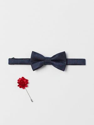 Краватка-метелик синя в цяточку | 5751899