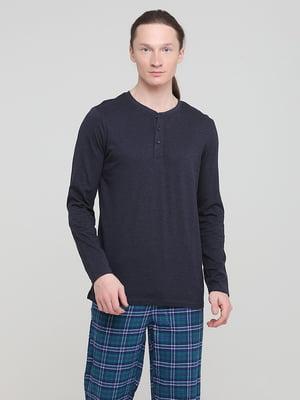 Лонгслив-поло пижамный черный   5752133