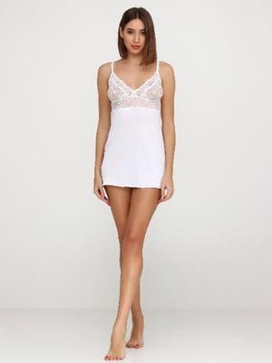 Рубашка ночная белая | 4815989