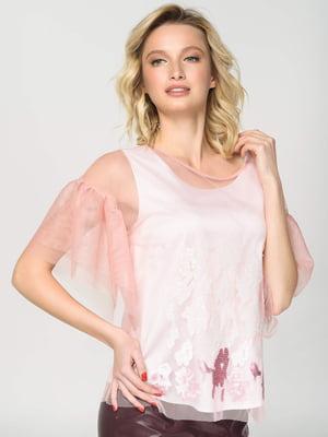 Блуза біло-рожева | 5752790