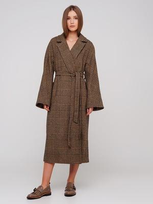 Пальто коричневое   5749324