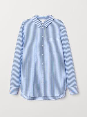 Рубашка белая в полоску | 5754884