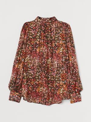 Блуза черная в принт | 5755229