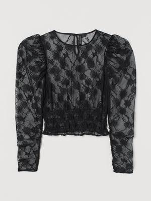 Блуза черная в принт | 5755239