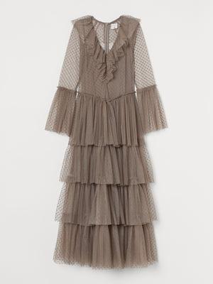 Платье кофейного цвета | 5755324