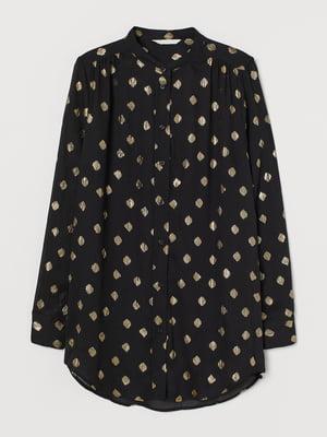 Блуза черная в принт | 5755484