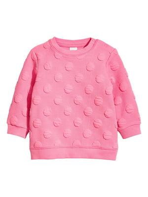 Свитшот розовый с декором-горохом   5754354
