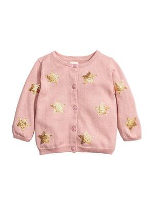 Кофта розовая с декором   5755730
