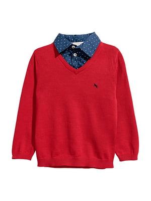 Пуловер красный | 5755855