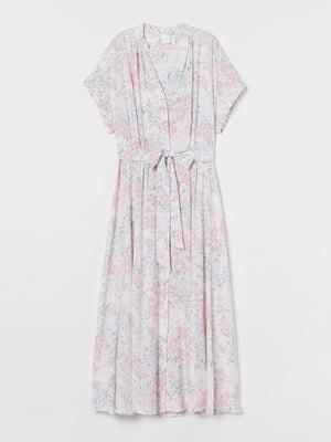 Платье белое в цветочный принт   5756259