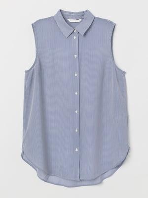 Блуза синяя в полоску   5756269