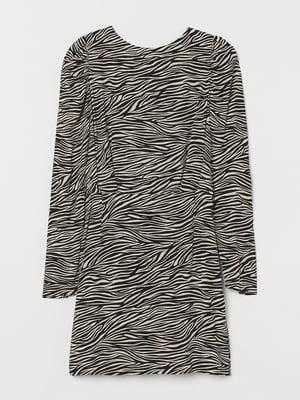 Платье черно-белое в принт   5756275