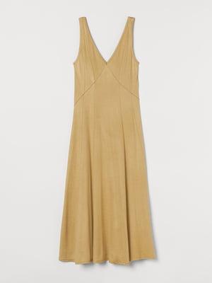 Платье золотистого цвета   5756282