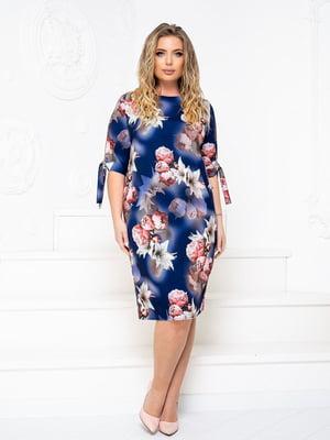 Платье синее в принт   5756728