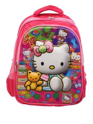 Рюкзак рожевий з принтом   5756652