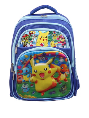 Рюкзак синій з принтом   5756655