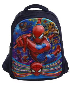 Рюкзак синий с принтом | 5756660