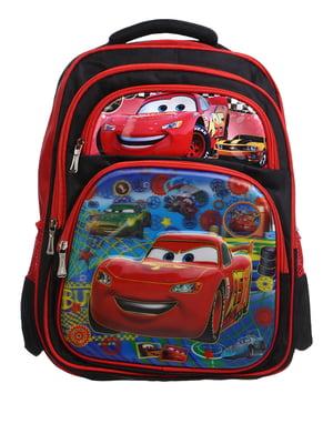 Рюкзак красный с принтом | 5756657