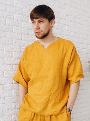 Рубашка горчичного цвета | 5757295