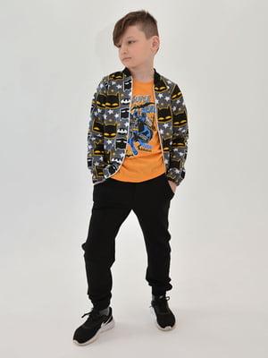 Комплект: штани, футболка і бомбер | 5758301
