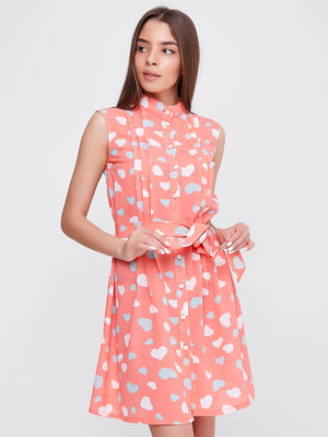 Платье розовое в принт | 5760187
