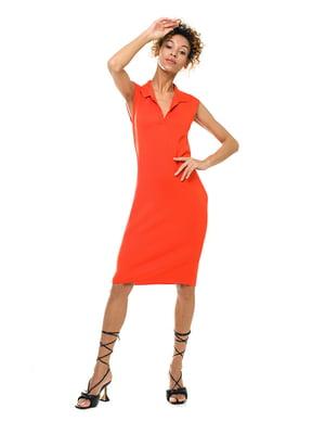 Платье кораллового цвета | 5760164