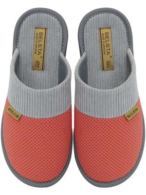 Тапочки кораллового цвета   5760201