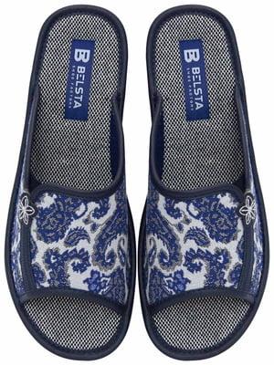 Тапочки синие с рисунком   5760202