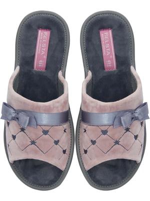 Тапочки розовые с декором   5760210