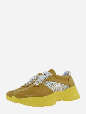 Кросівки помаранчеві з логотипом | 5751208