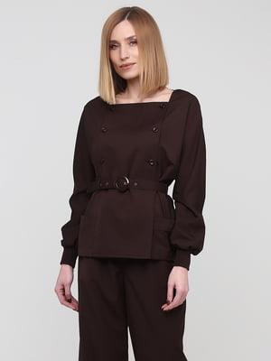 Блуза шоколадного цвета | 5760313
