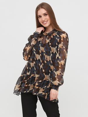Блуза комбинированного цвета в принт | 5760341