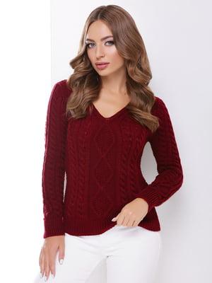 Пуловер бордовий | 5735329