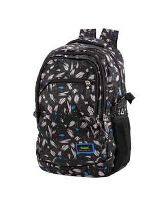 Рюкзак чорний в принт   5746098