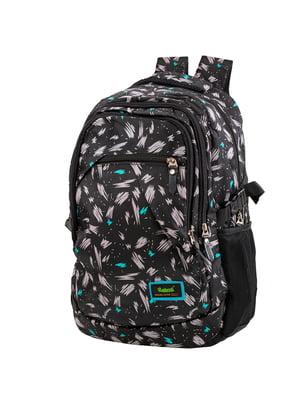 Рюкзак чорний в принт   5746099