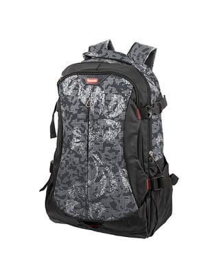 Рюкзак двоколірний в принт | 5746101