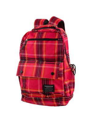 Рюкзак червоний в клітинку   5746120