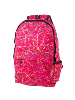 Рюкзак розовый в принт   5746826
