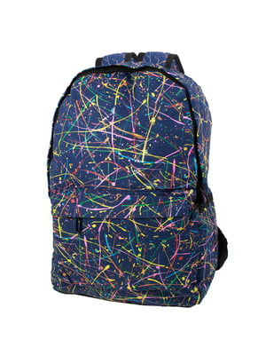 Рюкзак синій в принт | 5746828